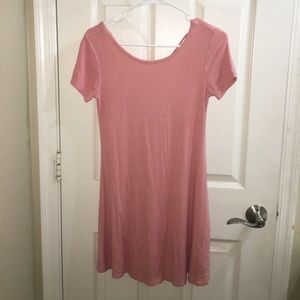 Forever 21 ribbed pink flowy dress